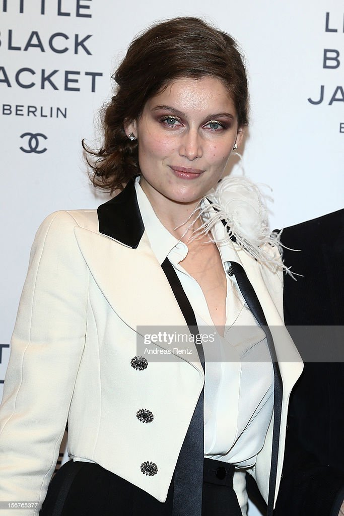 Laetitia Casta attends CHANEL 'The Little Black Jacket' - Exhibition Opening by Karl Lagerfeld and Carine Roitfeld on November 20, 2012 in Berlin, Germany.
