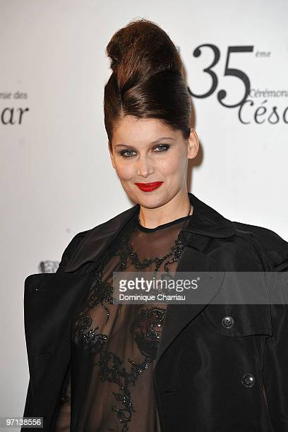 Laetitia Casta attends the 35th Cesar Film Awards at Theatre du Chatelet on February 27 2010 in Paris France