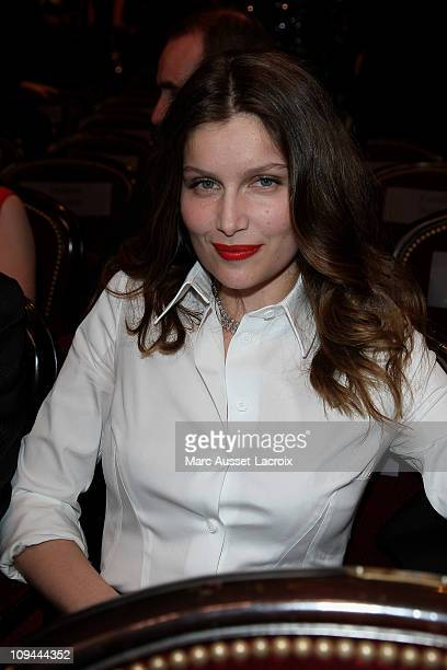 Laetitia Casta attends the 36th Cesar Film Awards at Theatre du Chatelet on February 25 2011 in Paris France