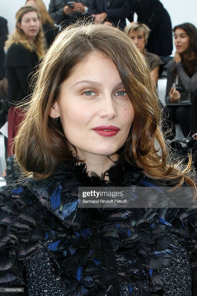 <a gi-track='captionPersonalityLinkClicked' href=/galleries/search?phrase=Laetitia+Casta&family=editorial&specificpeople=203075 ng-click='$event.stopPropagation()'>Laetitia Casta</a> attends the Chanel Spring / Summer 2013 show as part of Paris Fashion Week at Grand Palais on October 2, 2012 in Paris, France.