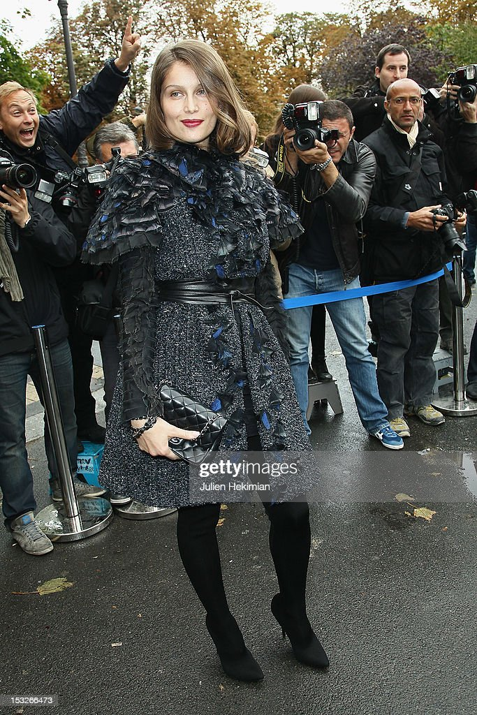 Laetitia Casta attends the Chanel Spring / Summer 2013 show as part of Paris Fashion Week at Grand Palais on October 2, 2012 in Paris, France.
