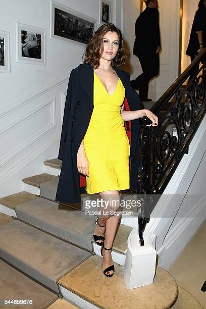 Laetitia Casta attends the Christian Dior Haute Couture Fall/Winter 20162017 show as part of Paris Fashion Week at 30 Avenue Montaigne on July 4 2016...