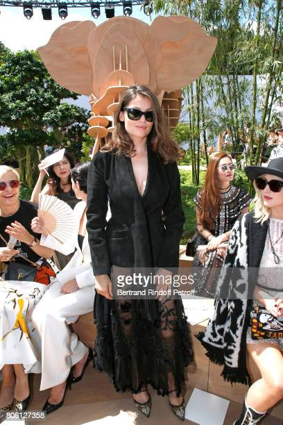 Laetitia Casta attends the Christian Dior Haute Couture Fall/Winter 20172018 show as part of Haute Couture Paris Fashion Week on July 3 2017 in Paris...