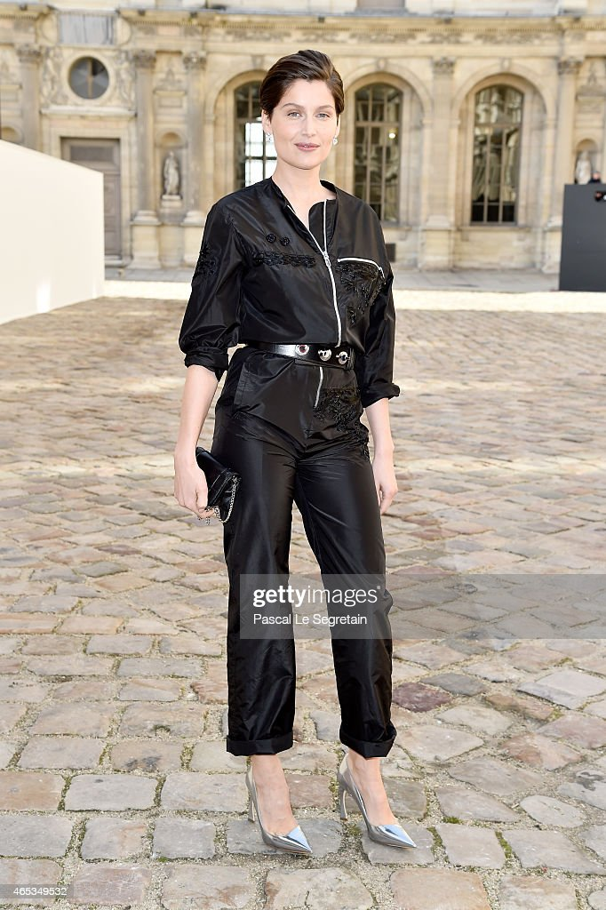 <a gi-track='captionPersonalityLinkClicked' href=/galleries/search?phrase=Laetitia+Casta&family=editorial&specificpeople=203075 ng-click='$event.stopPropagation()'>Laetitia Casta</a> attends the Christian Dior show as part of the Paris Fashion Week Womenswear Fall/Winter 2015/2016 on March 6, 2015 in Paris, France.