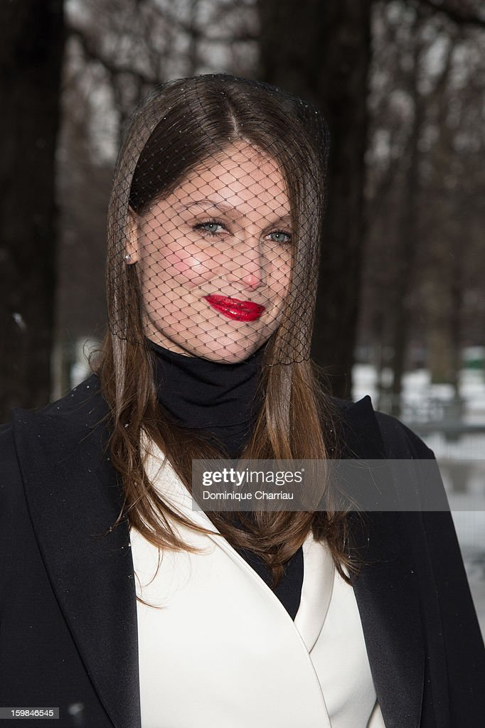 Laetitia Casta attends the Christian Dior Spring/Summer 2013 Haute-Couture show as part of Paris Fashion Week at on January 21, 2013 in Paris, France.