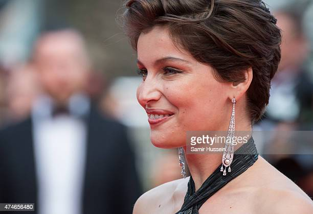 Laetitia Casta attends the closing ceremony and 'Le Glace Et Le Ciel' Premiere during the 68th annual Cannes Film Festival on May 24 2015 in Cannes...