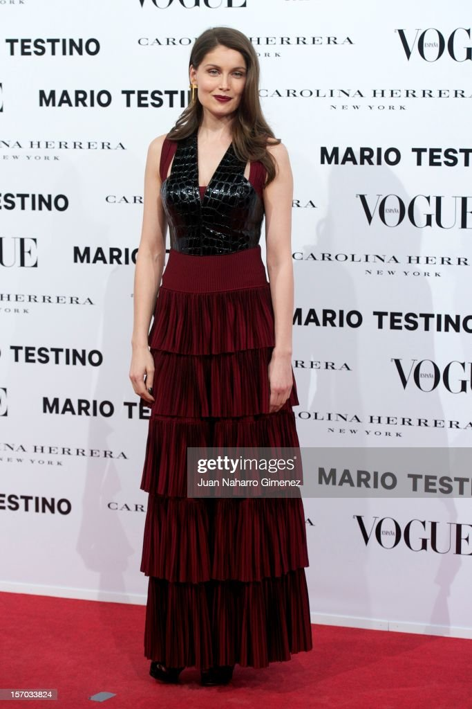 Laetitia Casta attends the presentation launch of the Vogue December issue at Fernan Nunez Palace on November 27, 2012 in Madrid, Spain.