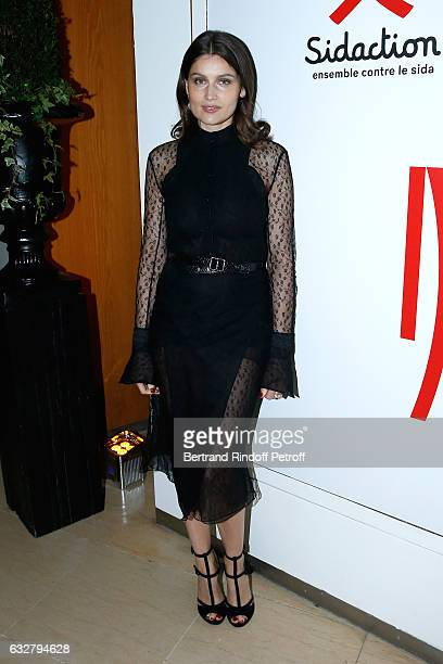 Laetitia Casta attends the Sidaction Gala Dinner 2017 Haute Couture Spring Summer 2017 show as part of Paris Fashion Week on January 26 2017 in Paris...