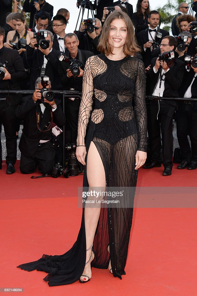 Laetitia Casta attends 'The Unknown Girl ' Premiere during the 69th annual Cannes Film Festival at the Palais des Festivals on May 18 2016 in Cannes...