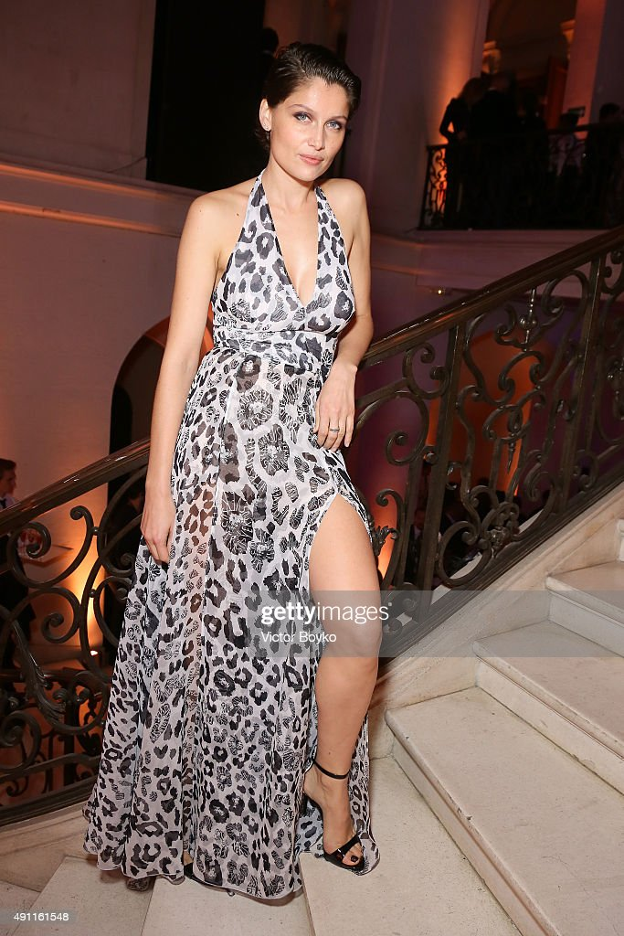 Laetitia Casta attends Vogue 95th Anniversary Party on October 3 2015 in Paris France