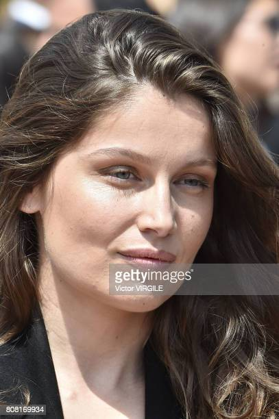 Laetitia Casta during the Christian Dior Haute Couture Fall/Winter 20172018 show as part of Haute Couture Paris Fashion Week on July 3 2017 in Paris...