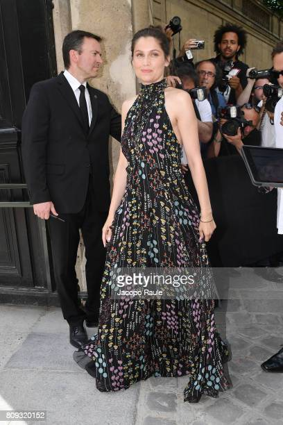 Laetitia Casta is seen arriving at Valentino fashion show during the Paris Fashion Week Haute Couture Fall/Winter 20172018 on July 5 2017 in Paris...