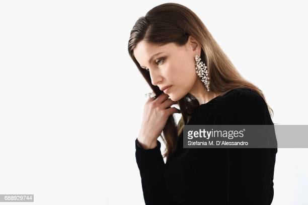 Laetitia Casta poses at the Kering Suite during the 70th Cannes Film Festival on May 27 2017 in Cannes France