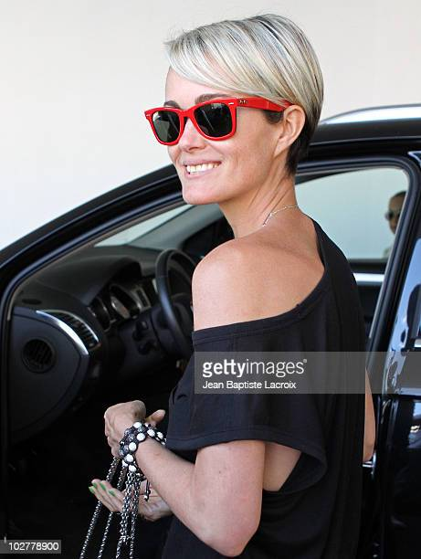 Laetitia Hallyday is seen in Beverly Hills on July 9 2010 in Los Angeles California