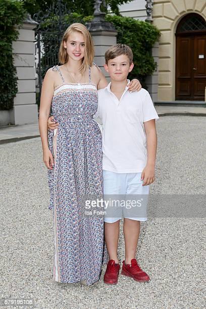 Laetitia von SchoenburgGlauchau and her brother Valentin von SchoenburgGlauchau attend the Joan Baez Concert during the Thurn Taxis Castle Festival...