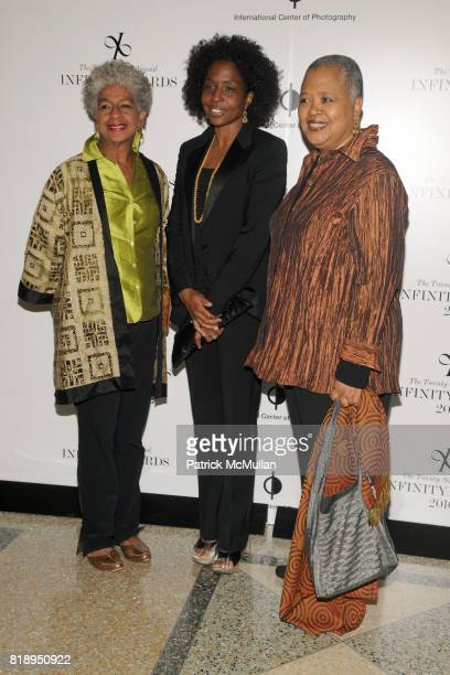LaFleur Paysour Lorna Simpson and Kinsasha Hollman Conwil attend INTERNATIONAL CENTER OF PHOTOGRAPHY's 25th Annual INFINITY AWARDS at Pier 60 on May...