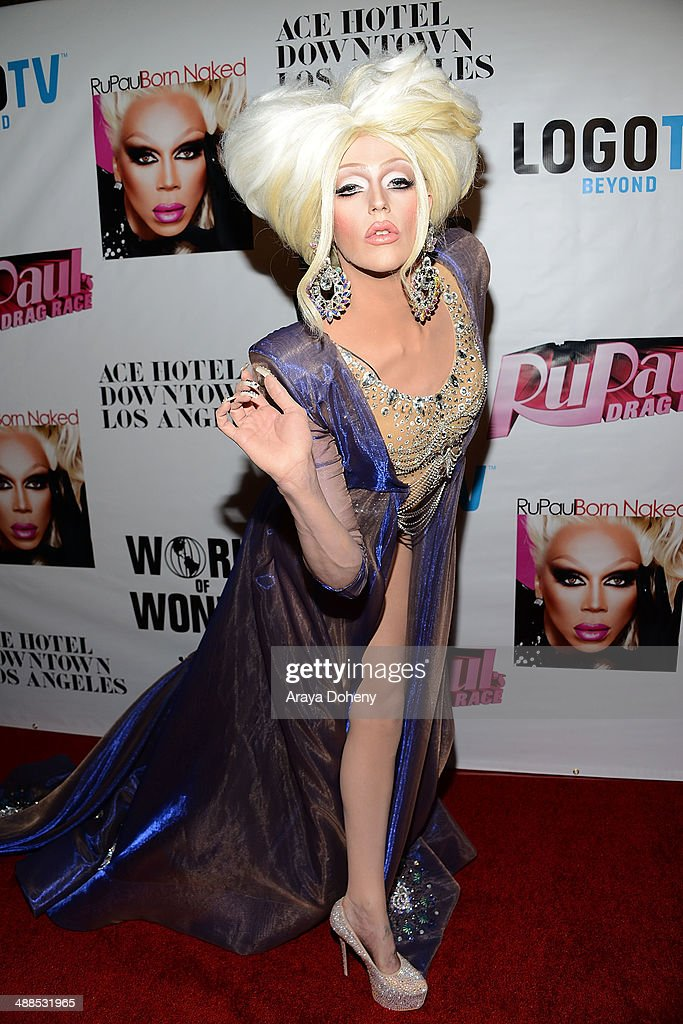 <a gi-track='captionPersonalityLinkClicked' href=/galleries/search?phrase=Laganja+Estranja&family=editorial&specificpeople=11246590 ng-click='$event.stopPropagation()'>Laganja Estranja</a> attends Logo TV's 'RuPaul's Drag Race' season 6 reunion taping at The Theatre at Ace Hotel Downtown LA on May 6, 2014 in Los Angeles, California.
