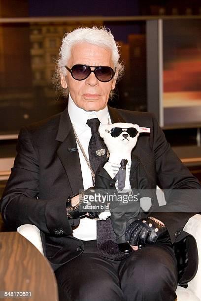 Lagerfeld Karl Fashion Designer Germany with the 'Karl Lagerfeld bear'