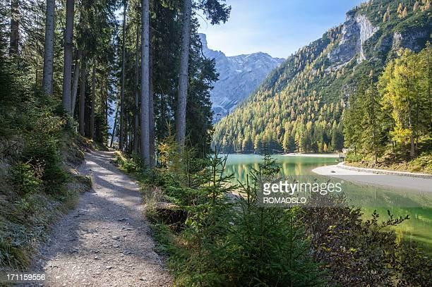 Lago di de Braies-Pragser Wildsee, Tyrol du Sud, Italie