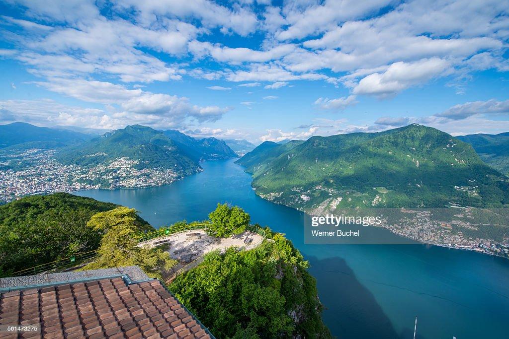 Lago di Lugano seen from Monte San Salvatore