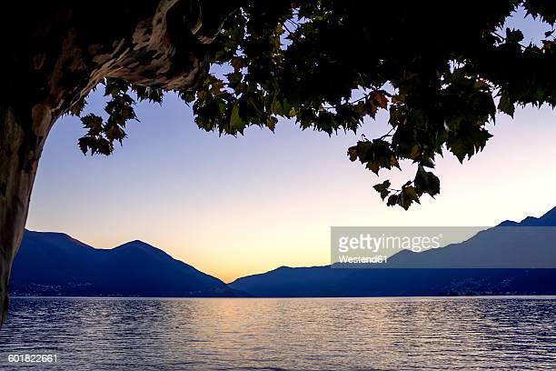 Lago Maggiore at sunset