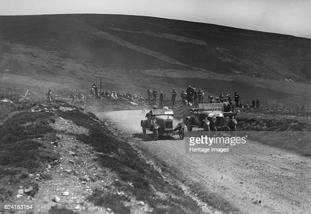 Lagonda of WH Oates and DFP of JC Douglas competing in the Scottish Light Car Trial 1922 Artist Bill BrunellLagonda Open 2seater 1421 cc Reg No...
