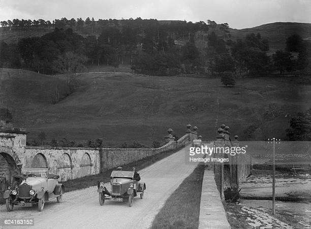 Lagonda of WH Oates Calcott open tourer and Wolseley at the Scottish Light Car Trial 1922 Artist Bill BrunellLagonda Open 2seater 1421 cc Reg No...