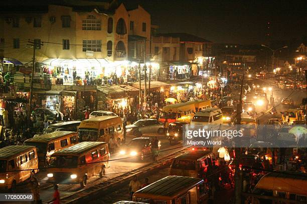 Lagos' busy night scene Nigeria March 15 2008