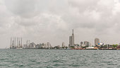 Lagos skyline cityscape from the creek.
