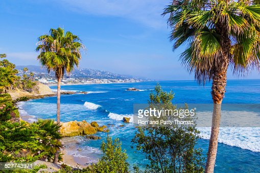Laguna Beach coastline,Pacific Ocean,Rte 1,Orange County,CA(P)