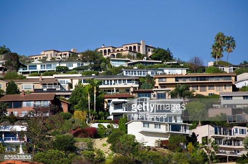 Laguna beach hillside homes stock photo getty images for Laguna beach house prices
