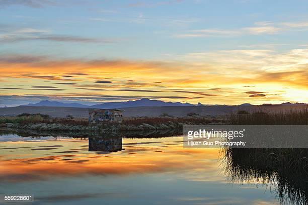 Laguna Nimez Sunset, El Calafate, Argentina