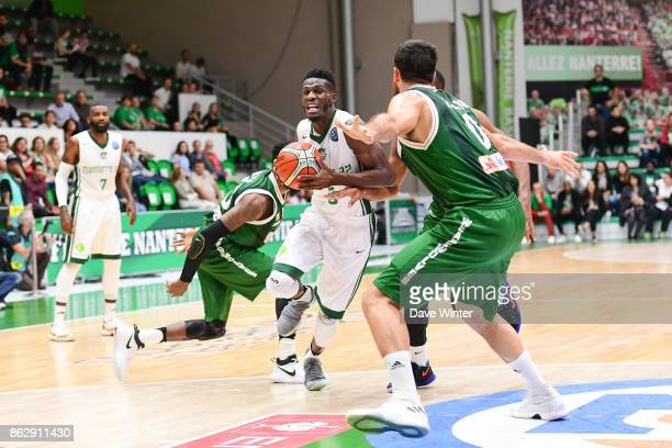 Lahaou Konate of Nanterre during the Basketball Champions League match between Nanterre 92 and Sidigas Avellino on October 18 2017 in Nanterre France
