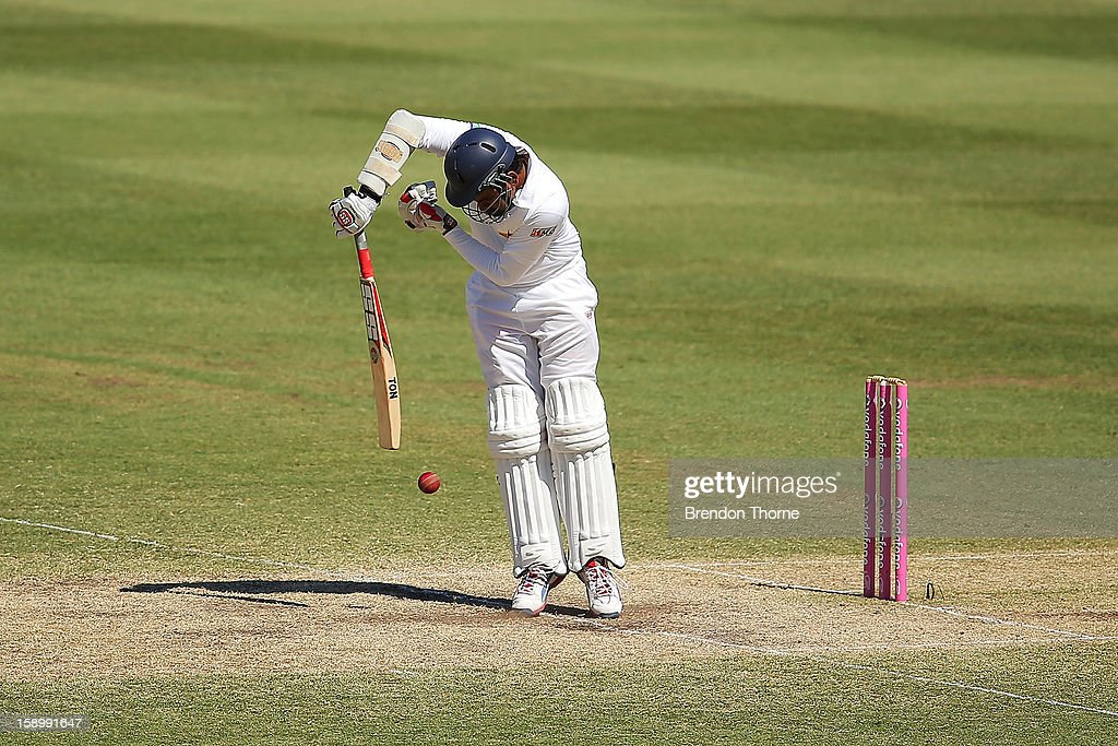 Lahiru Thirimanne of Sri Lanka bats during day three of the Third Test match between Australia and Sri Lanka at the Sydney Cricket Ground on January 5, 2013 in Sydney, Australia.