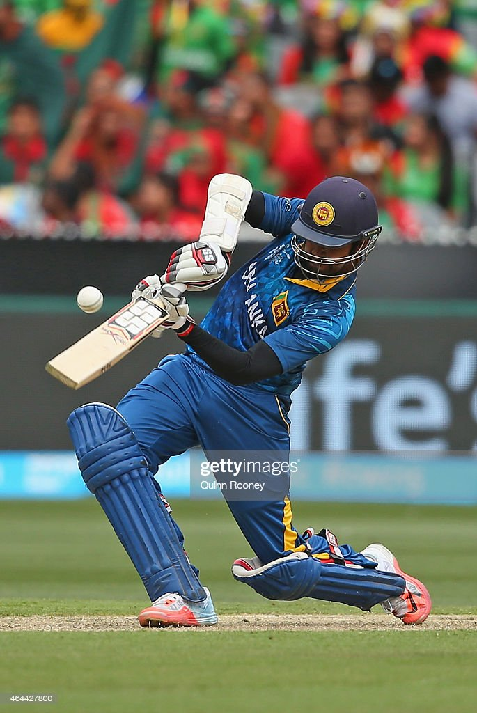 <a gi-track='captionPersonalityLinkClicked' href=/galleries/search?phrase=Lahiru+Thirimanne&family=editorial&specificpeople=5946377 ng-click='$event.stopPropagation()'>Lahiru Thirimanne</a> of Sri Lanka bats during the 2015 ICC Cricket World Cup match between Sri Lanka and Bangladesh at Melbourne Cricket Ground on February 26, 2015 in Melbourne, Australia.
