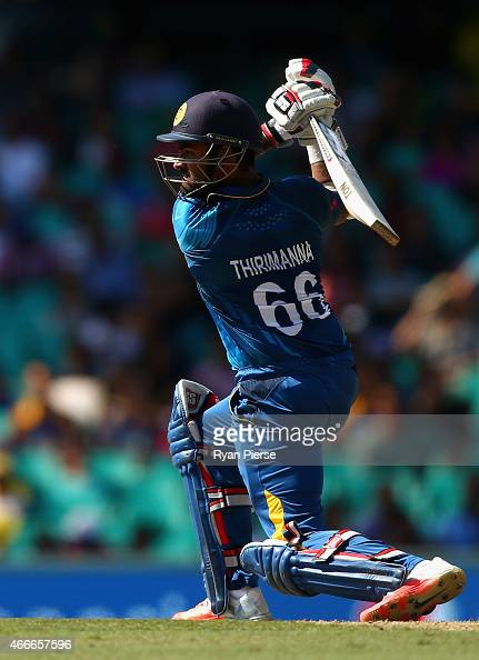 Lahiru Thirimanne of Sri Lanka bats during the 2015 ICC Cricket World Cup Quarter Final match between South Africa and Sri Lanka at Sydney Cricket...