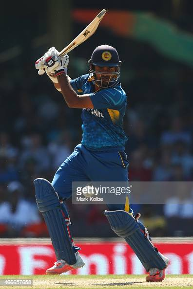 Lahiru Thirimanne of Sri Lanka bats during the 2015 ICC Cricket World Cup match between South Africa and Sri Lanka at Sydney Cricket Ground on March...