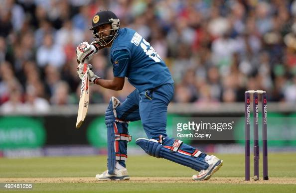 Lahiru Thirimanne of Sri Lanka bats during the NatWest International T20 match between England and Sri Lanka at The Kia Oval on May 20 2014 in London...