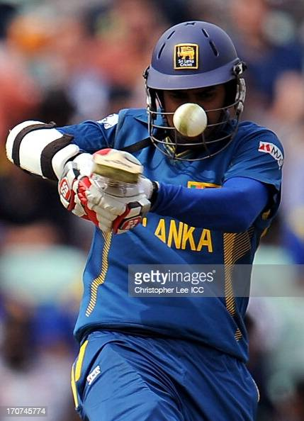 Lahiru Thirimanne of Sri Lanka in action during the ICC Champions Trophy Group A match between Sri Lanka and Australia at The Oval on June 17 2013 in...