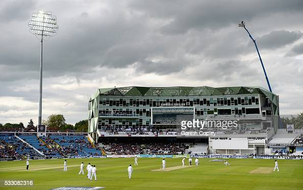 Lahiru Thirimanne of Sri Lanka is caught out by Steven Finn of England from the bowling of Stuart Broad during day two of the 1st Investec Test match...