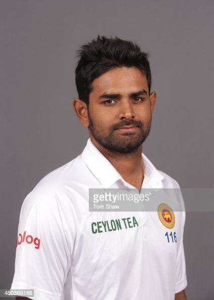 Lahiru Thirimanne of Sri Lanka poses for a headshot during the Sri Lanka portrait session at Lord's Cricket Ground on June 10 2014 in London England