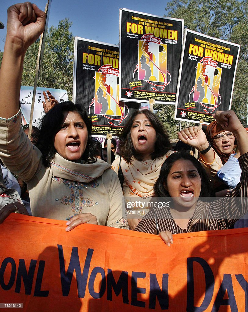 activists of s working women or pictures getty images activists of s working women organizations wwo chant slogans during a protest ahead of
