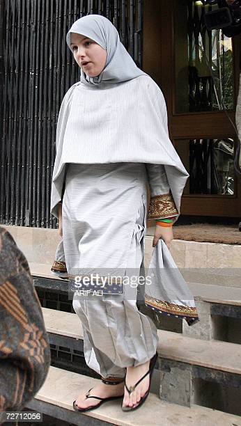 Scottish schoolgirl Molly Campbell leaves a court after she attended a hearing in Lahore 04 December 2006 A Pakistani court ordered that Molly...
