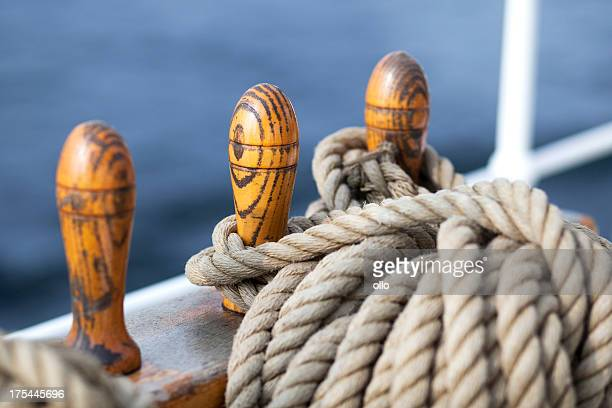 Laid ropes on a sailing vessel
