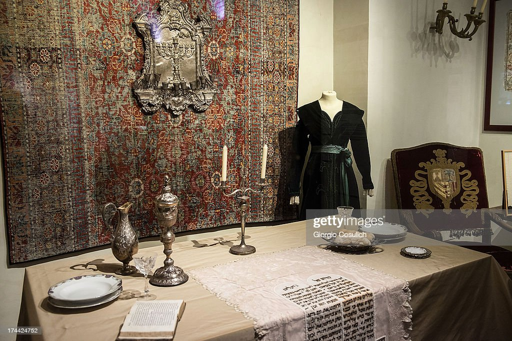 A laid table is shown in the Jewish Museum during the last day of the International Festival of Jewish Culture and Literature in the Ghetto district on July 25, 2013 in Rome, Italy. The sixth edition of the International Festival of Jewish Culture and Literature ended on July 25, 2013.
