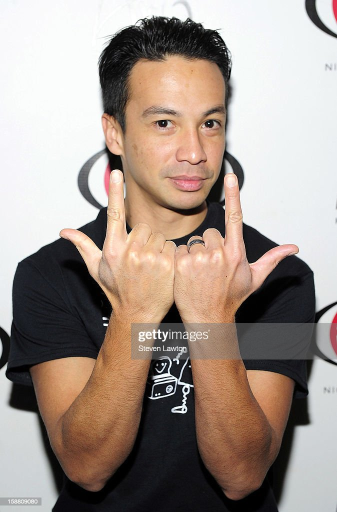 Laidback Luke arrives for a performance at Haze Nightclub at the Aria Resort & Casino at CityCenter on December 29, 2012 in Las Vegas, Nevada.