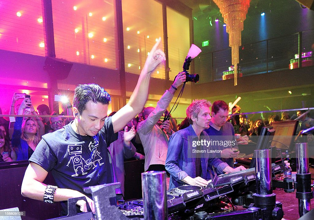 Laidback Luke performs at Haze Nightclub at the Aria Resort & Casino at CityCenter on December 29, 2012 in Las Vegas, Nevada.