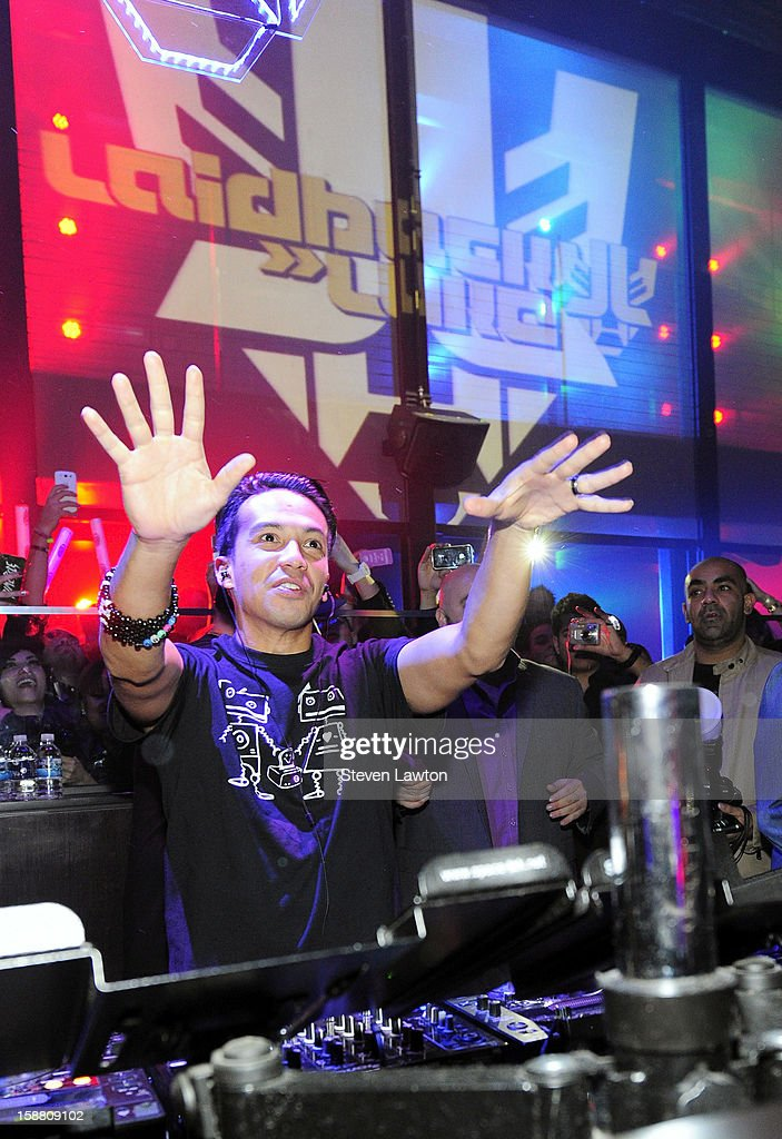 Laidback Luke performs at Haze Nightclub at the Aria Resort & Casino at CityCenter on December 29, 2012 in Las Vegas, Nevada.
