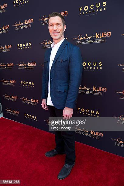 Laika President CEO Travis Knight arrives at From Coraline To Kubo A Magical Laika Experience at The Globe Theatre on August 5 2016 in Universal City...
