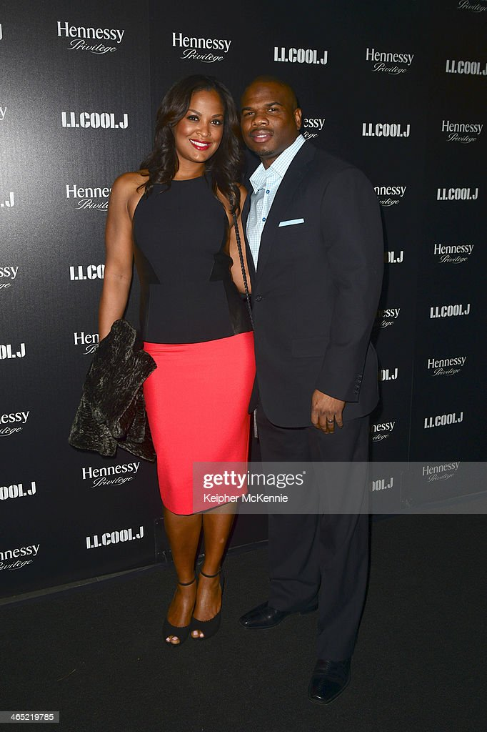 Laila Ali and Curtis Conway arrrives to PreGRAMMY Awards dinner for LL COOL J hosted by Hennessy at The Bazaar at the SLS Hotel Beverly Hills on...